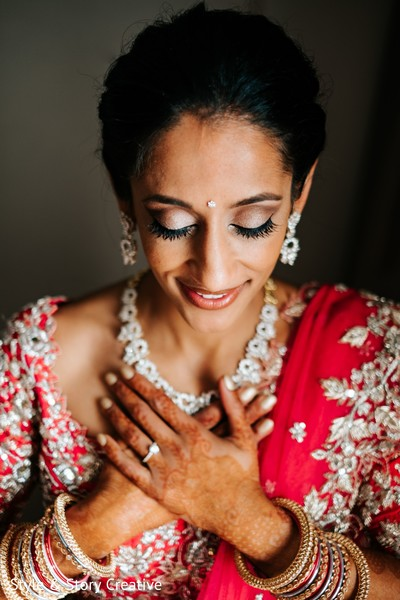 Flawless indian bridal wedding ceremony makeup.