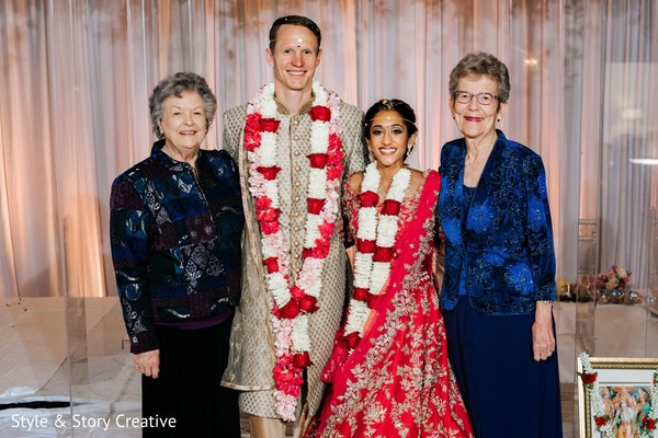 Indian  couple with grooms relative.