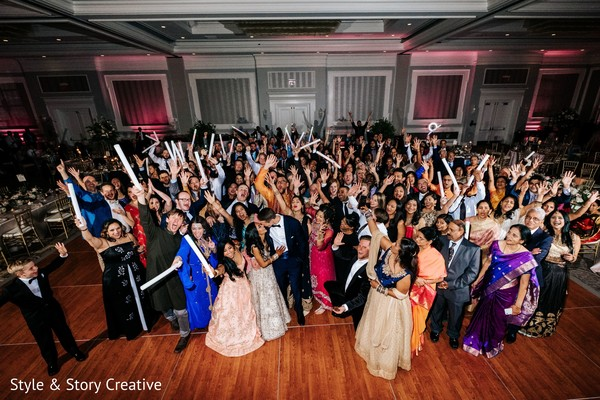 Indian wedding reception party photography.