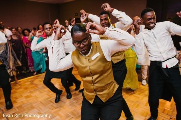 Indian wedding reception dance choreography.