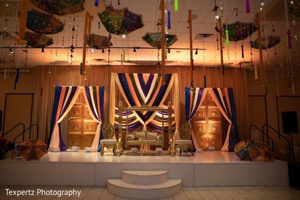 Gorgeous Mehndi night decor