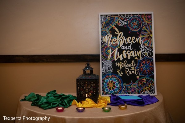 Incredible pre-wedding celebration table setup and decoration.