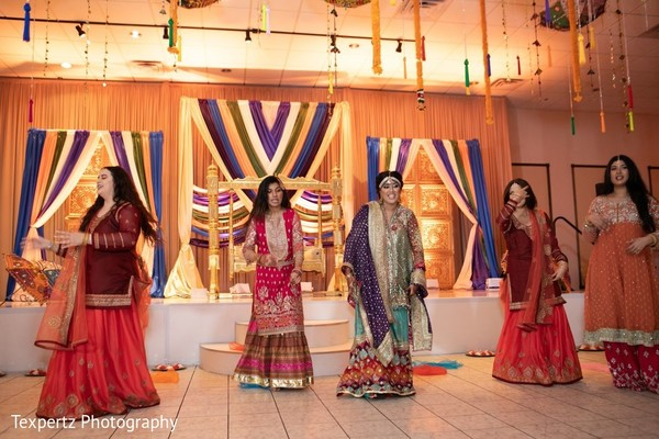 Sweet Indian bride capture during her dance performance