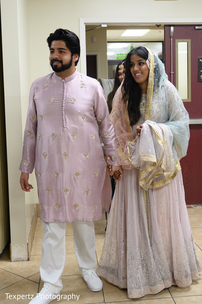 Indian lovebirds looking gorgeous on their wedding attires
