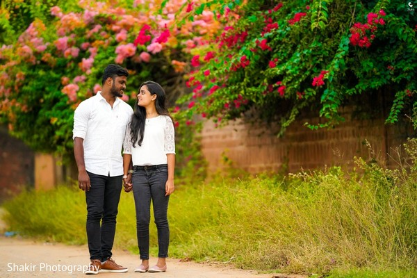 Sweet capture of Indian couple during their pre-wedding photoshoot