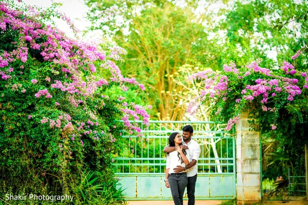 Most romantic capture of bride and groom during outdoor photoshoot