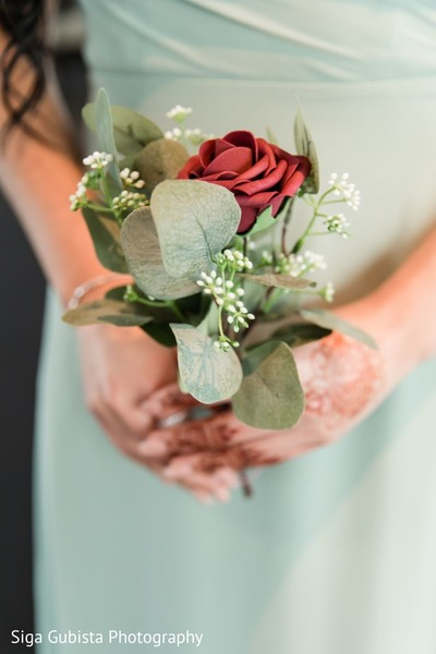 Amazing shot of bridal party's floral bouquet.