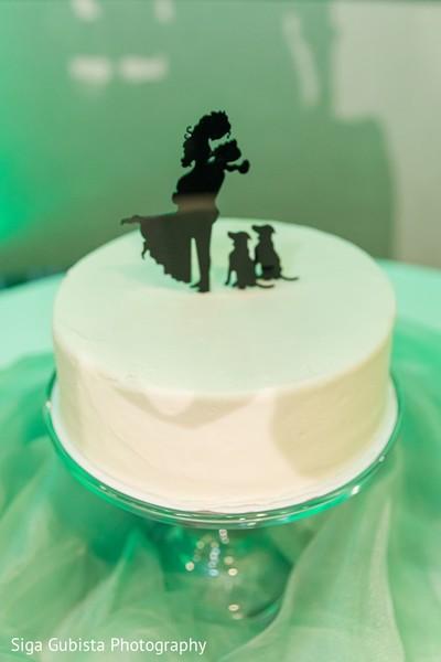 Gorgeous capture of Indian wedding cake