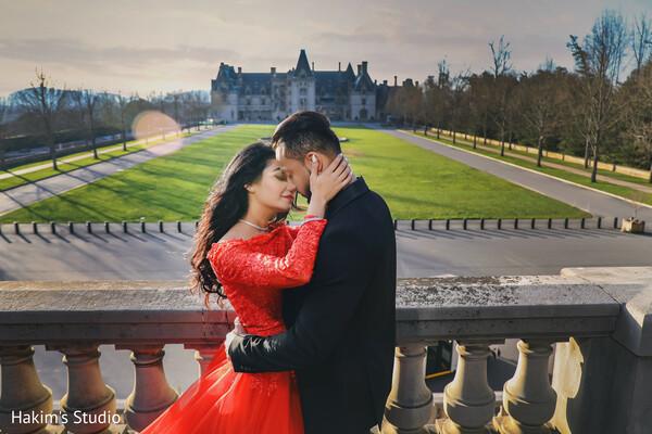 Indian couple outdoors romantic capture.
