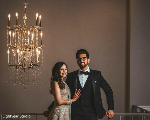 Maharani and raja on their reception wedding outfits.