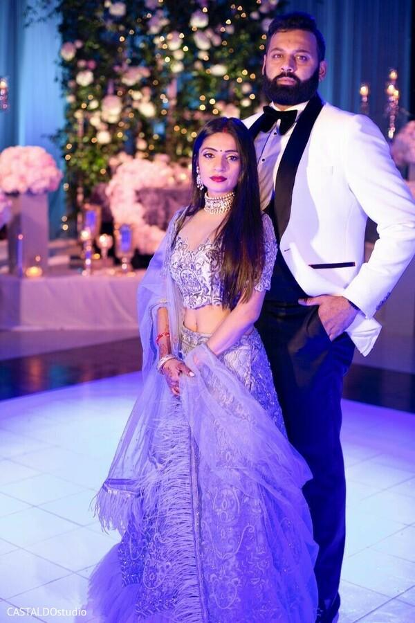 Maharani and raja at wedding reception photoshoot.
