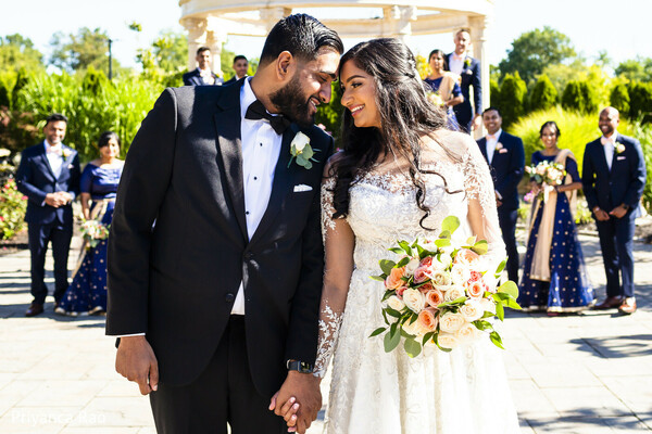 Indian couple looking at eachother capture.