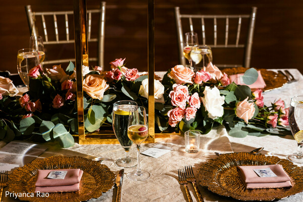 Indian wedding reception table.