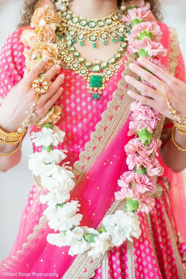 Maharani showing her Indian wedding jewelry.