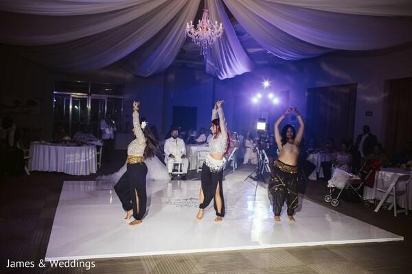 Indian wedding reception dance.