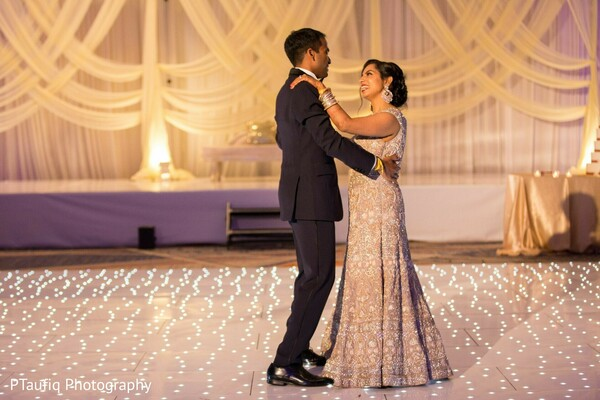 Maharani and raja at the wedding reception dance.
