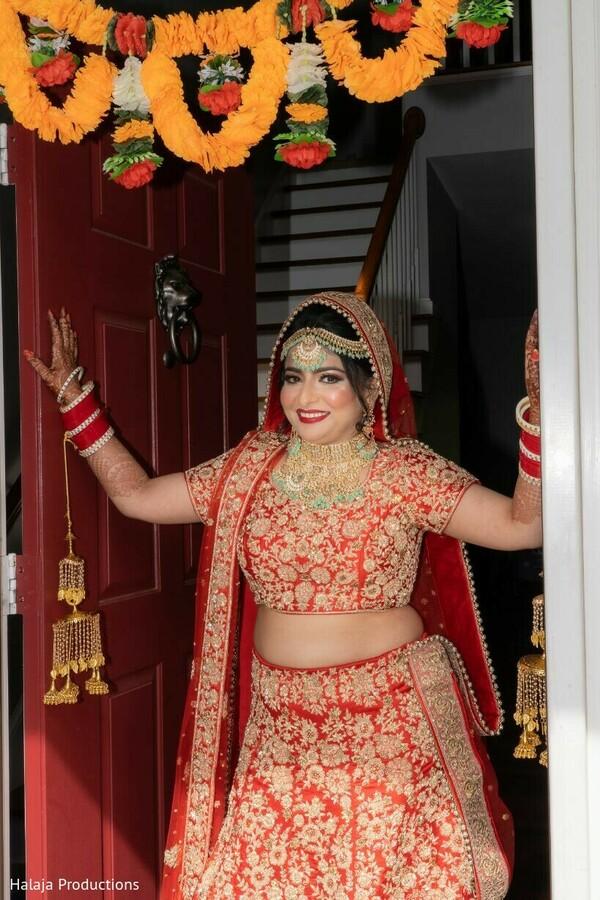 Maharani walking out the door photo.