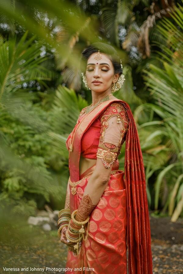 Maharani on her wedding ceremony saree.