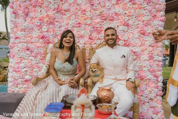Indian couple at their engagement stage.