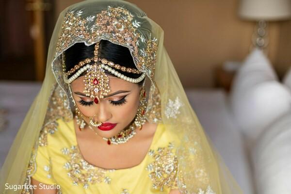 Maharani wearing her Haldi outfit.