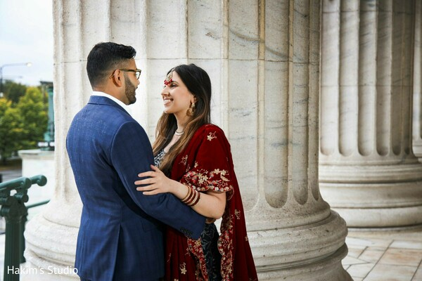 Lovely Indian couple at their engagement photo session.