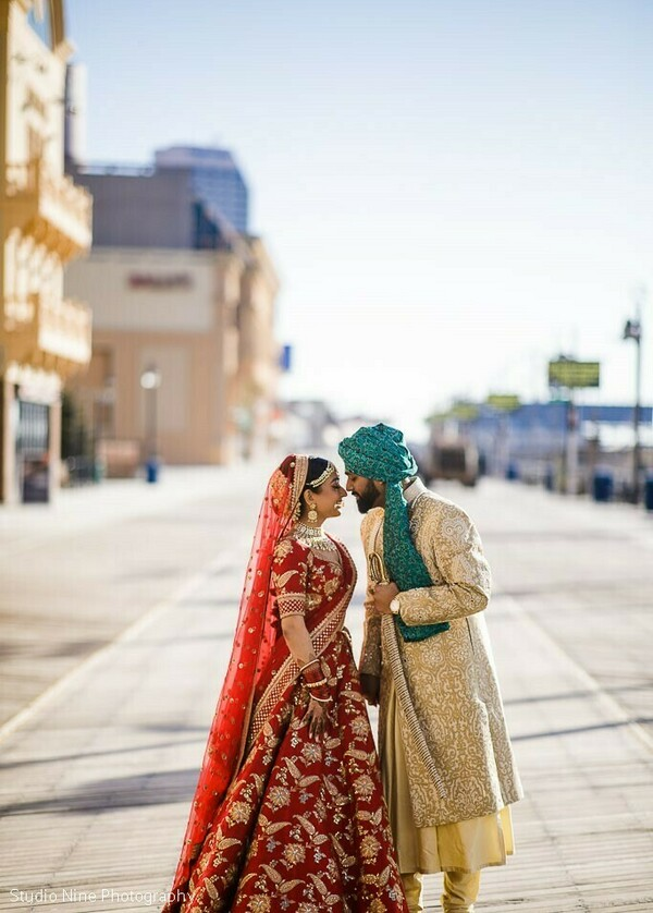 Outdoors Indian couple's photo session.