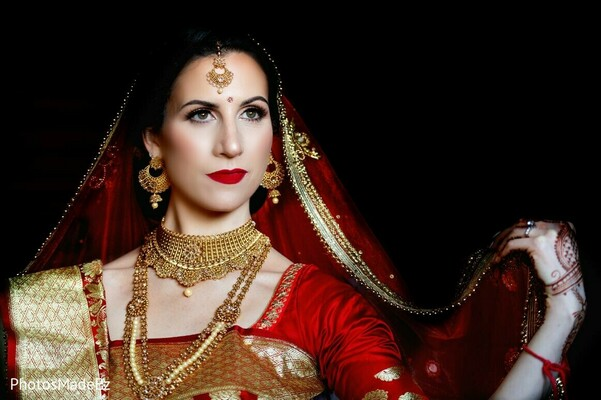 Maharani's Indian wedding ceremony look.