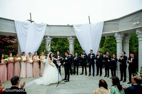 Maharani and groom at the wedding ceremony.