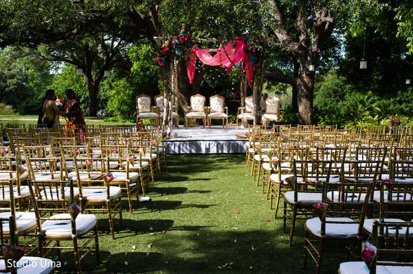 Ceremony decor in Austin, TX Indian Fusion Wedding by Studio Uma
