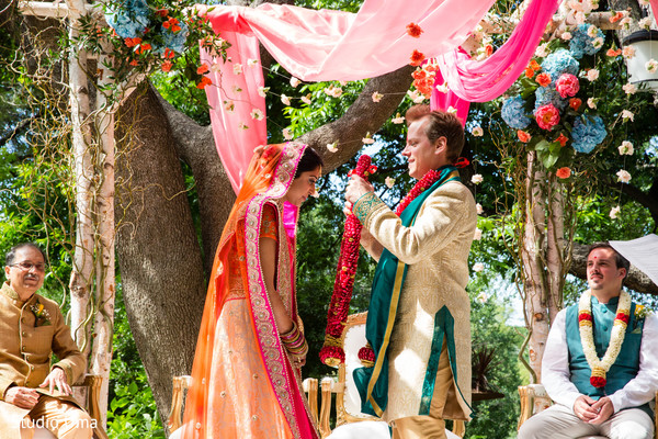 Indian fusion wedding ceremony in Austin, TX Indian Fusion Wedding by Studio Uma
