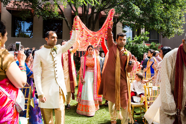 Indian fusion wedding ceremony in Austin, TX Indian Fusion Wedding by Studio Uma
