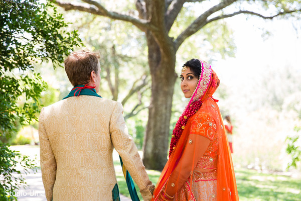 Indian wedding portraits in Austin, TX Indian Fusion Wedding by Studio Uma