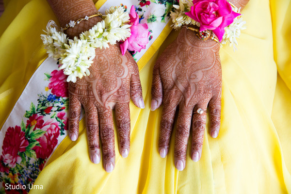 Mehndi hands in Austin, TX Indian Fusion Wedding by Studio Uma