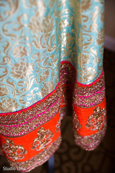 Bridal lengha in Austin, TX Indian Fusion Wedding by Studio Uma