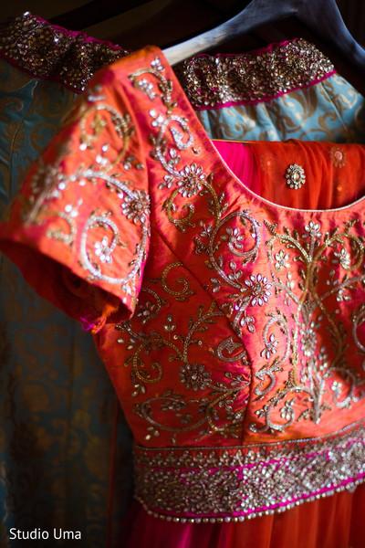 Bridal lengha in Austin, TX Indian Fusion Wedding by Studio Uma