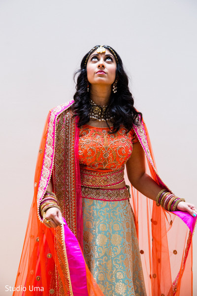 Indian bridal portrait in Austin, TX Indian Fusion Wedding by Studio Uma