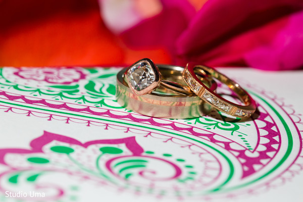 Indian wedding ring in Austin, TX Indian Fusion Wedding by Studio Uma