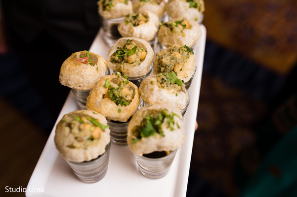 Indian wedding appetizers in Austin, TX Indian Fusion Wedding by Studio Uma