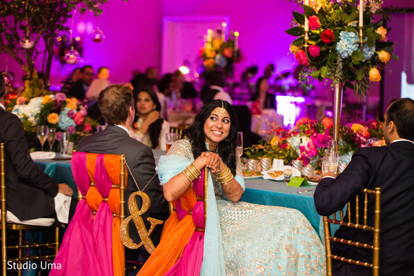 Reception in Austin, TX Indian Fusion Wedding by Studio Uma