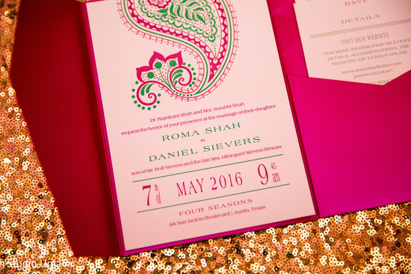 Indian wedding invitations in Austin, TX Indian Fusion Wedding by Studio Uma