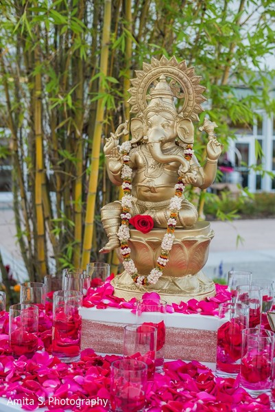 Ceremony Decor in Orlando, FL Indian Wedding by Amita S. Photography