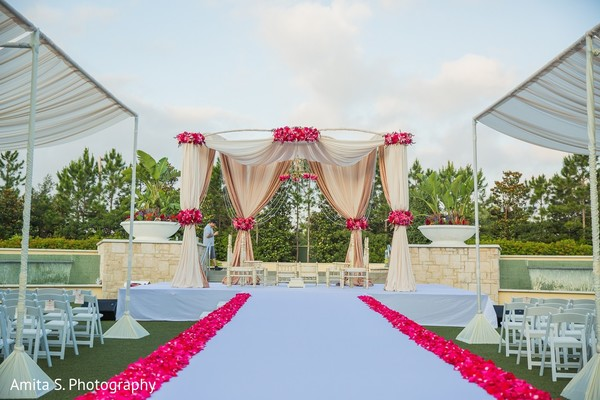 Mandap in Orlando, FL Indian Wedding by Amita S. Photography
