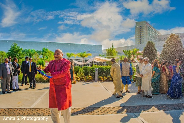 Baraat in Orlando, FL Indian Wedding by Amita S. Photography