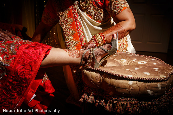 Indian bride getting ready in El Paso, TX Indian Wedding by Hiram Trillo Art Photography