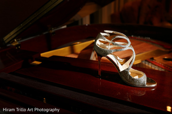 Shoes for indian bride in El Paso, TX Indian Wedding by Hiram Trillo Art Photography
