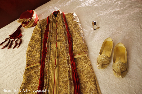 Indian groom fashion in El Paso, TX Indian Wedding by Hiram Trillo Art Photography