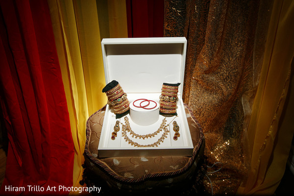 Jewelry for indian bride in El Paso, TX Indian Wedding by Hiram Trillo Art Photography