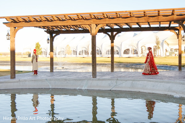 Indian first look portraits in El Paso, TX Indian Wedding by Hiram Trillo Art Photography