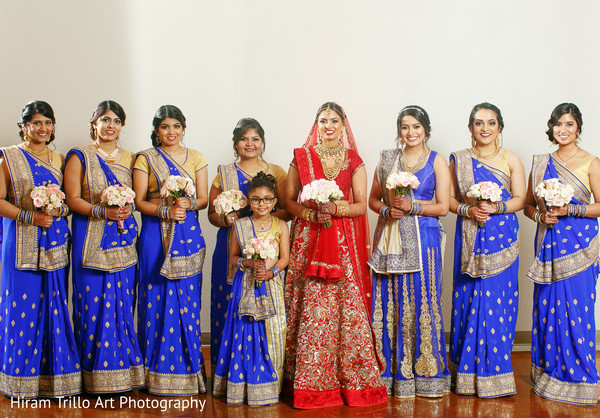 Indian bridal party portrait in El Paso, TX Indian Wedding by Hiram Trillo Art Photography
