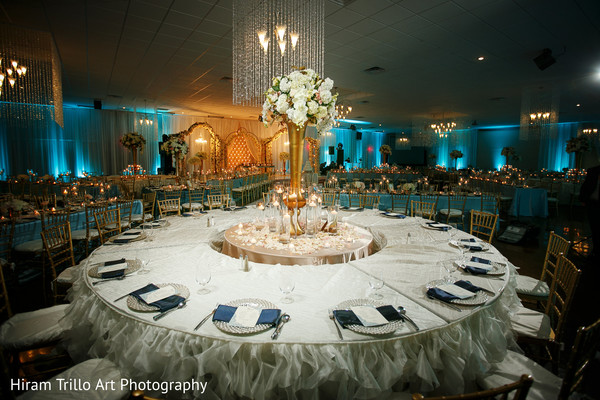 Reception floral and decor in El Paso, TX Indian Wedding by Hiram Trillo Art Photography